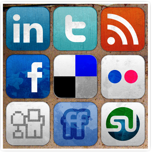 grungy-social-media-icons