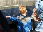 Connor experiencing the moment with a brush of his hand