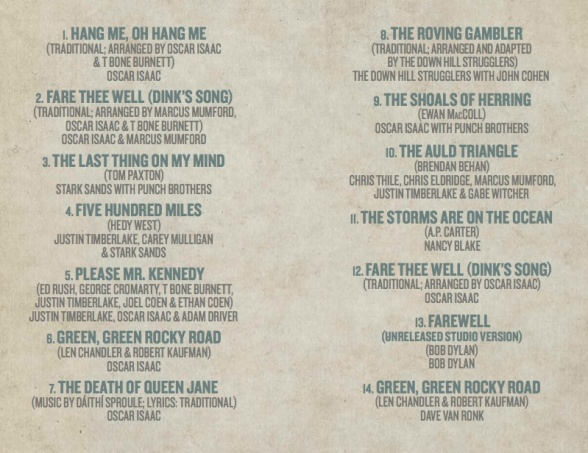 Davis Song List