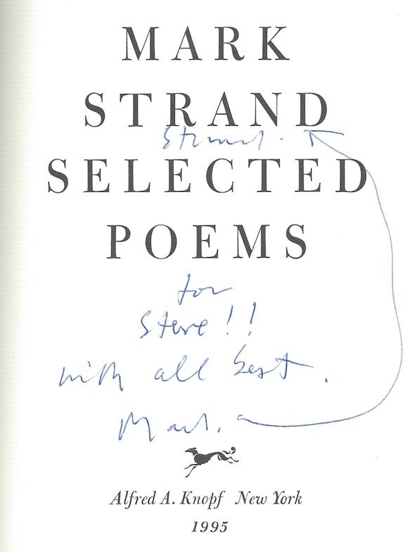 Mark Strand Signature
